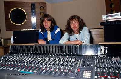 Angus & Malcolm Young. Photo courtesy Bob King.